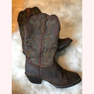 Justin cowgirl boots, GUC